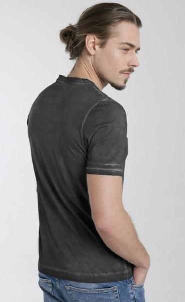 Cool Pigment Dyed Mens T - Black - 2