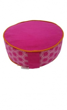 Meditation Cushion Fuchsia Graphic