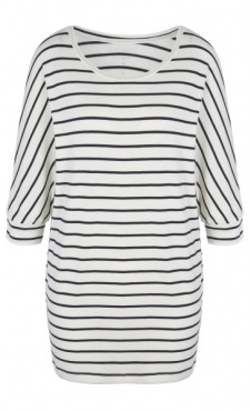 Be Grace Batwing - Navy Stripes