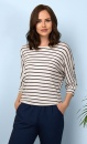 Be Grace Batwing - Navy Stripes - 1
