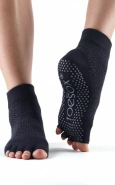Toesox Ankle Half Toe - Onyx