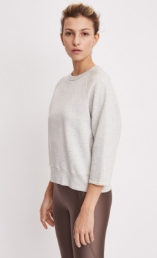 Mid Sleeve Sweat - Off Grey Marl