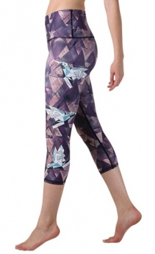 Origami Folds Yoga Leggings Cropped