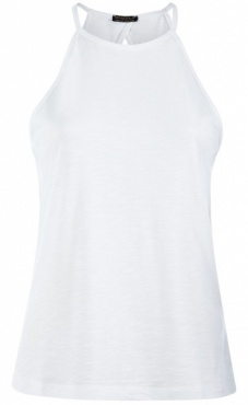Neckholder Top - White