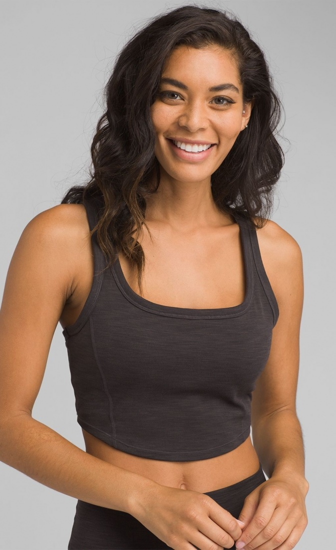 301d40a8459 Becksa Bralette - Black Heather - Women - Yoga Specials