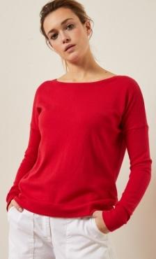Lanius Cotton Knit Boatneck Pullover
