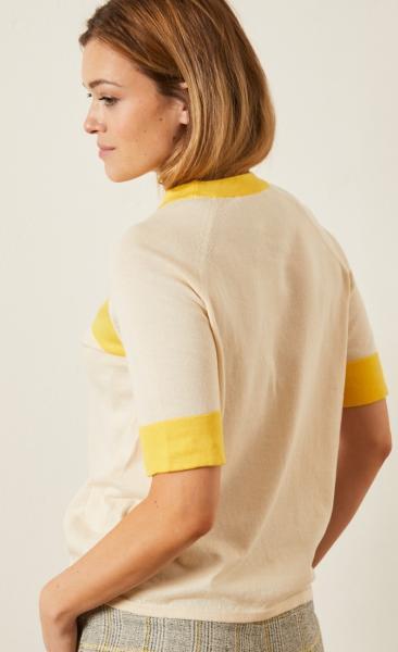 Lanius Knitted Half Sleeve Sweater - 1