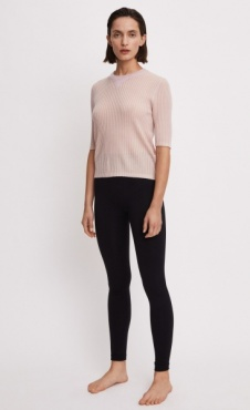 Filippa K Slim Rib Top Frosty Pink