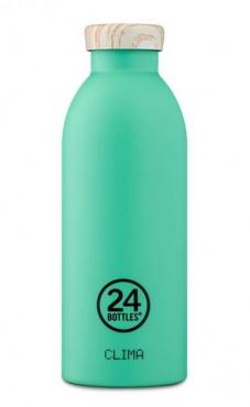 24bottles Clima - Mint wooden lid