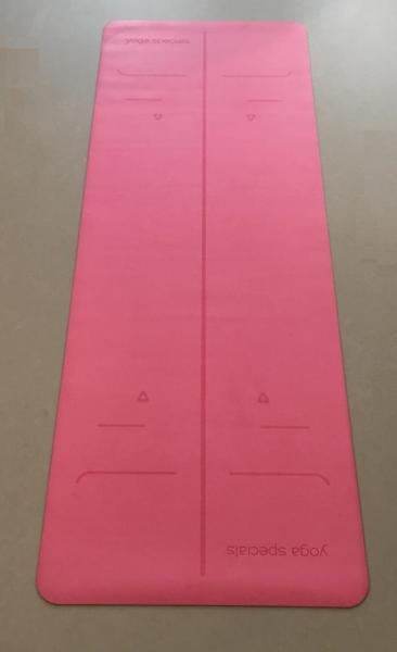 Alignment PU Grip Yoga Mat - Pink - 1