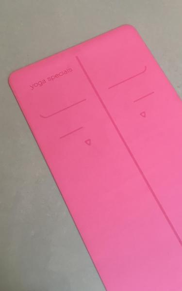 Alignment PU Grip Yoga Mat - Pink - 2