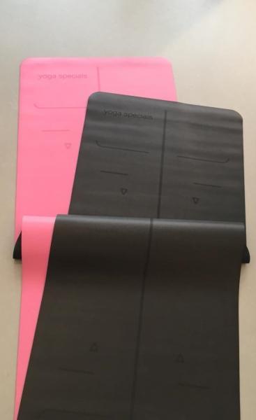 Alignment PU Grip Yoga Mat - Pink - 3