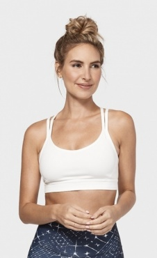 Cross Strap Bra - White