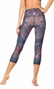Festival Denim Cropped Recycled Yoga Leggings - 1