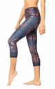 Festival Denim Cropped Recycled Yoga Leggings - 2