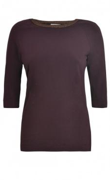 Sparkle Elbow Sleeve T - Burgundy