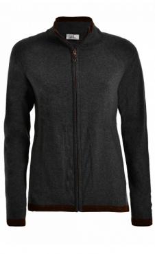 Sparkle Full Zip Sweater - Black