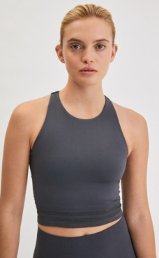 Filippa K Seamless Crop Top - Metal