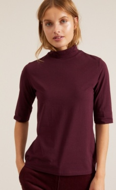 Lanius Turtle Neck Elbow T - Cassis