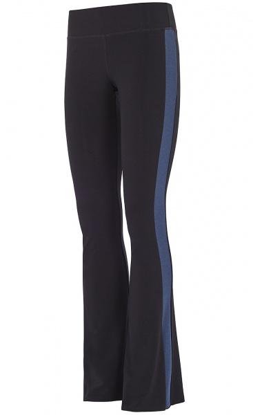Flared Tuxedo Pants - Black