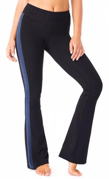 Flared Tuxedo Pants - Black - 4
