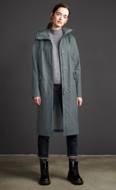 Langerchen Colrain Coat - Cool Mud