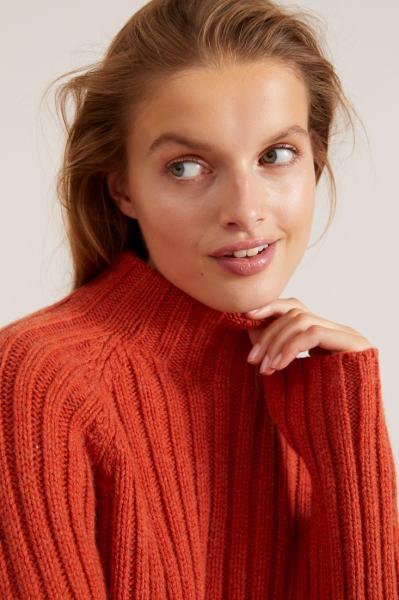 Lanius Rib Col Sweater - Copper - 2