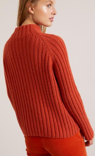 Lanius Rib Col Sweater - Copper - 3