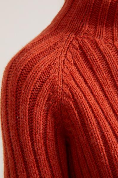 Lanius Rib Col Sweater - Copper - 4