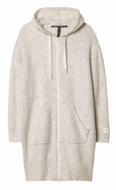 10Days Merino Coat Hoody - Ecru Marl