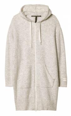 10Days Merino Coat Hoody - Ecru Marl