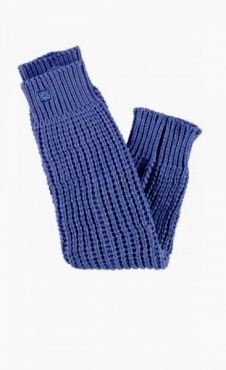 We'ar Knitted Leg Warmer - Graphite Blue