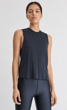 FilippaK Tencel Muscle Tank - Storm Blue
