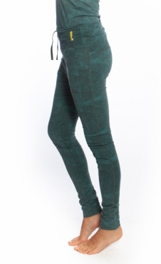 Relaxed Leggings Aqua Print