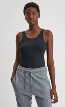 Filippa K Deep Back Top - Black