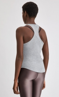 Filippa k Cotton Racer Tank - Grey Marl