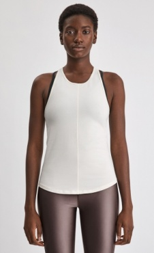 Filippa k Cotton Racer Tank - Off White