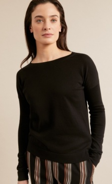 Lanius Boatneck Pullover - Black