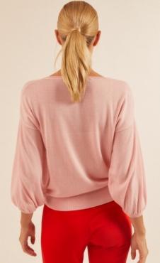 Lanius Bell Sleeve Silver Pink