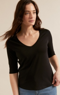 Lanius Elbow Tee - Black