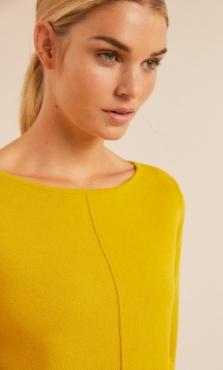 Lanius Boatneck Knit 3/4 Sleeve - Kiwi Gold