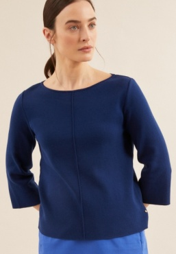 Lanius Boatneck Knit 3/4 Sleeve