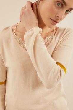 Lanius Oversized Pullover - Shell  / Kiwi gold