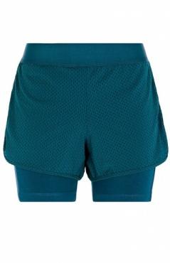 Hot Yoga Shorts - Tropical Green