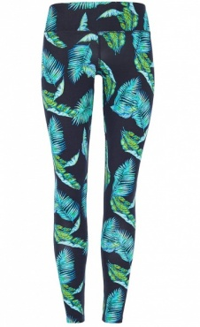 Natural Printed Legging Jungle leaf