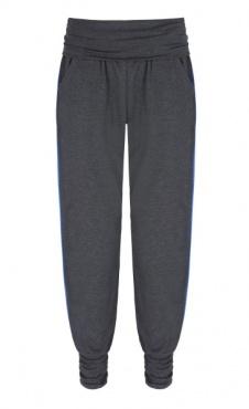 Long Harem Pants - Dark Grey/ Blue