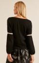 Lanius Oversized Pullover - Black / Shell - 1