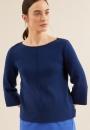 Lanius Boatneck Knit 3/4 Sleeve - Night Blue - 1