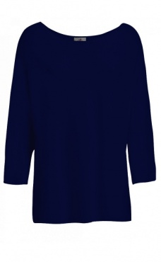 Punto Knit Boatneck - Night Blue