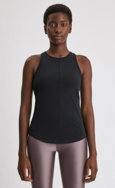 Filippa k Cotton Racer Tank - Black